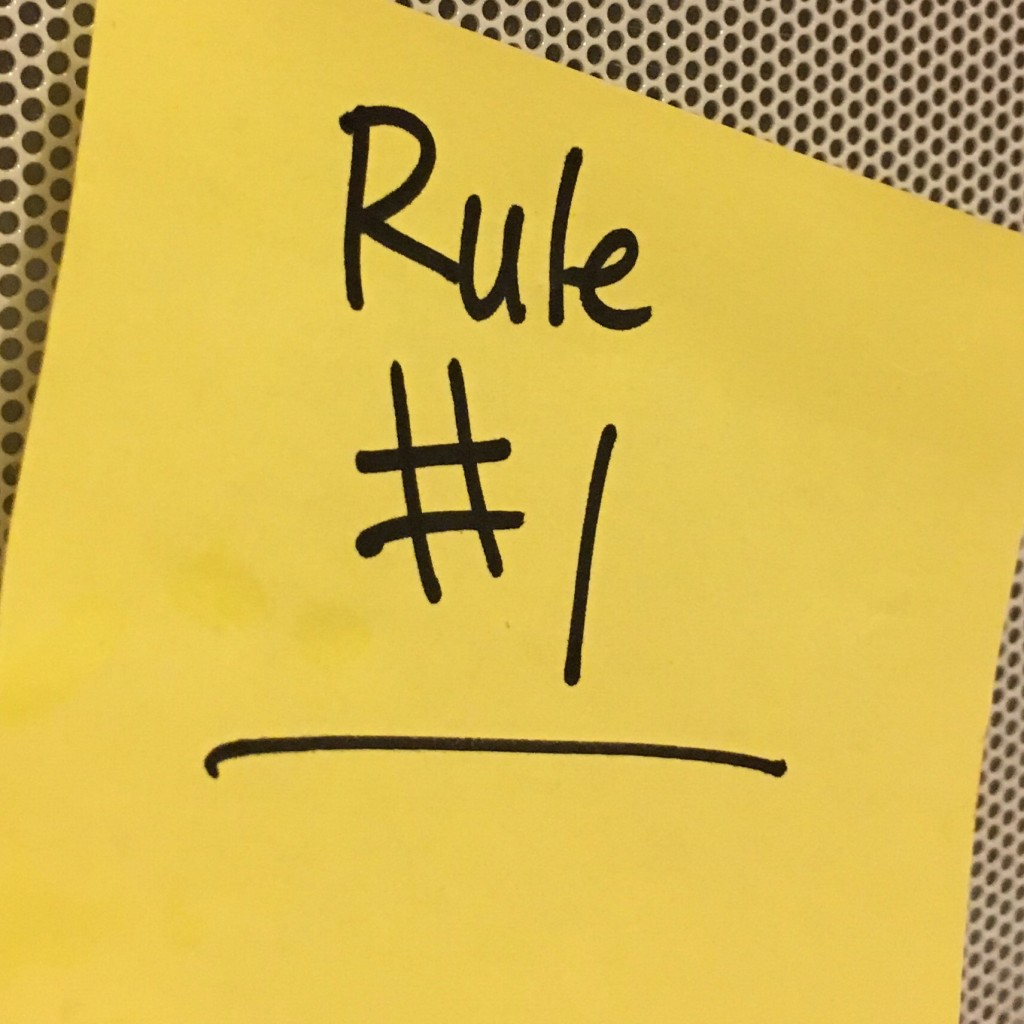 Rule #1 special instructor rules