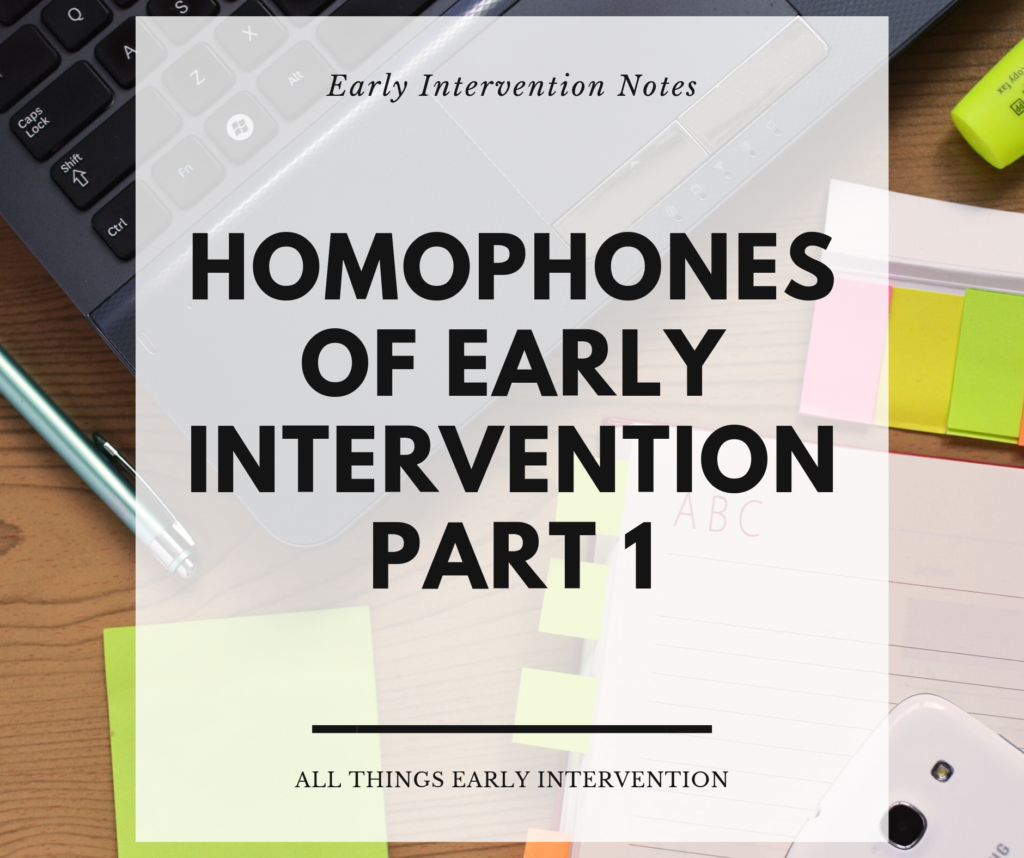 homophones early intervention 1